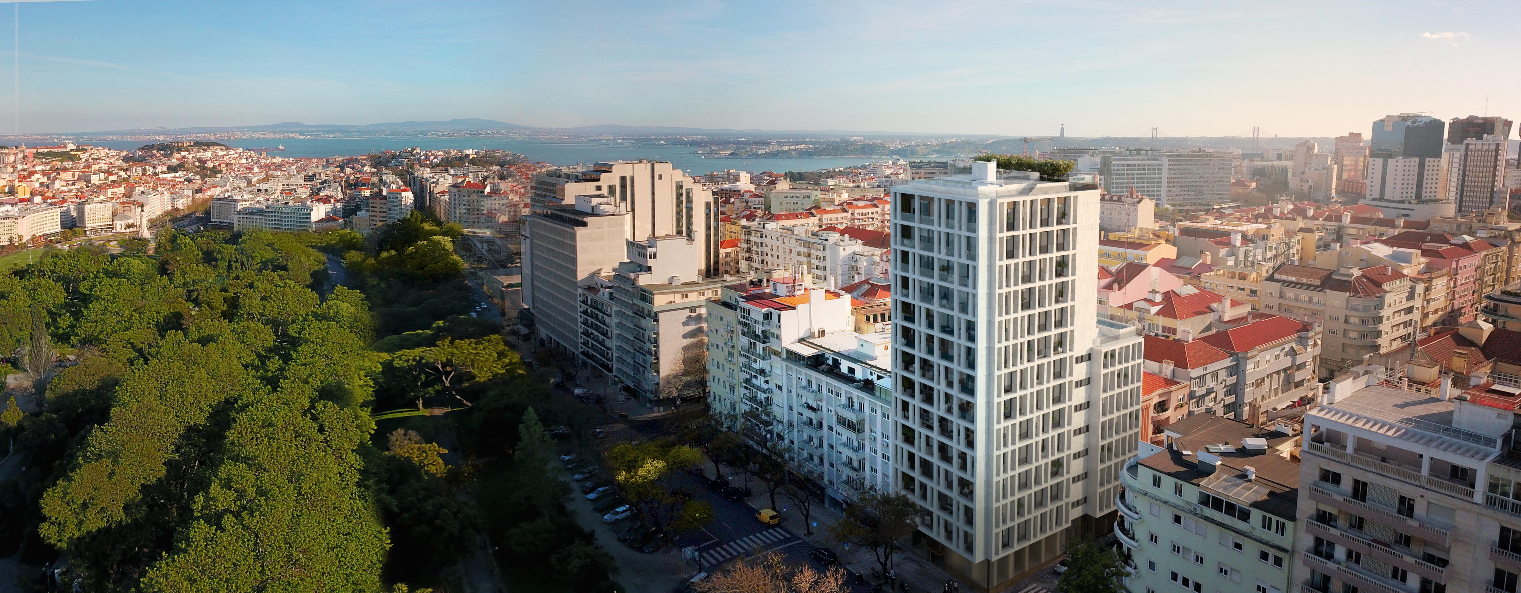 Vão nascer 20 casas de luxo em Lisboa, na torre Castilho 203 / Vanguard Properties