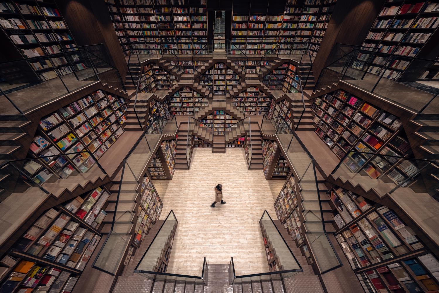 A gigantesca biblioteca