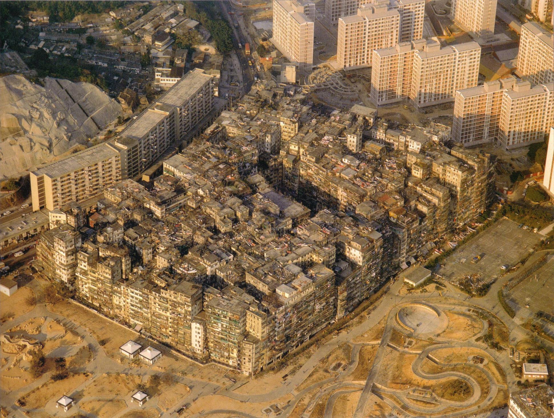 A cidade amuralhada de Kowloon