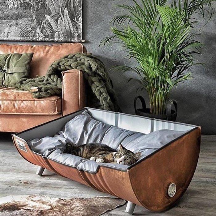 Uma cama pensada para gatos