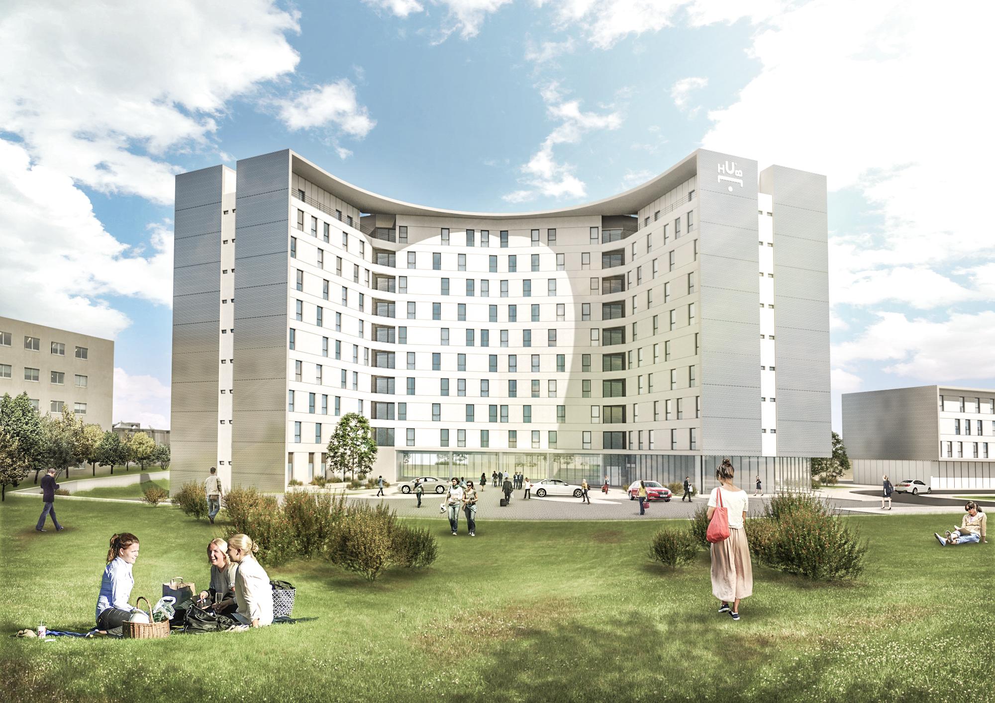 Assim será a residência universitária, que estará localizada na zona da Areosa / U.HUB Investments