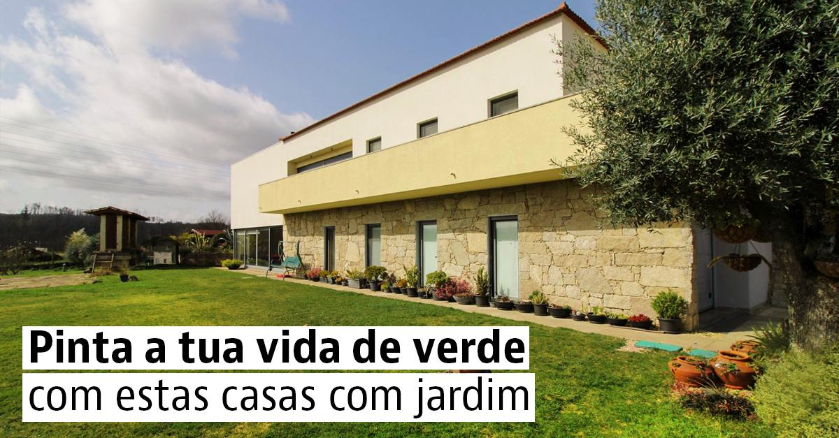 Casas com jardim a bons preços