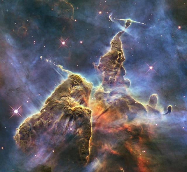 Nebulosa conhecida como 'Os Pilares da Criação'