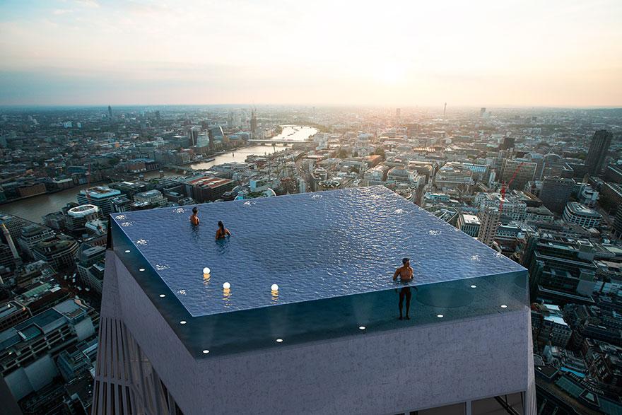 'Flutuar' sobre os céus de Londres