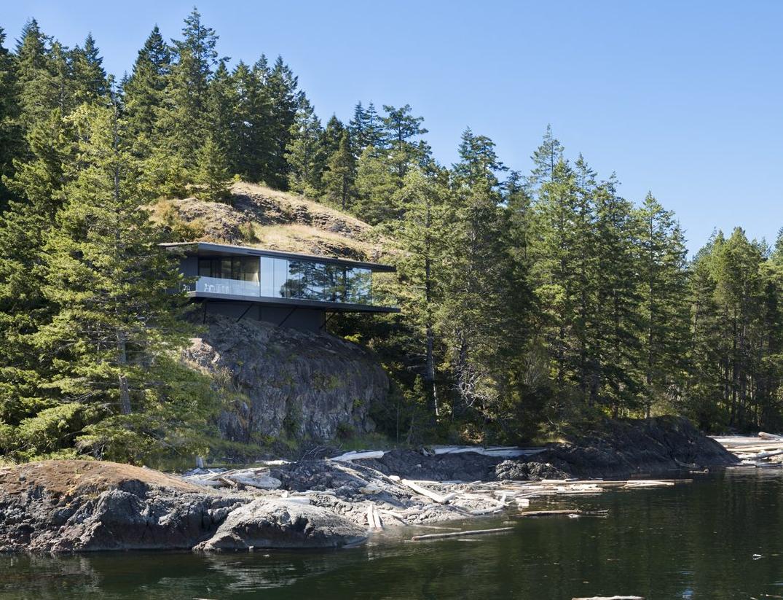 Está numa ilha na Columbia Britânica