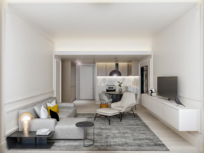 Interior dos apartamentos / Luximo's Christie´s International Real Estate