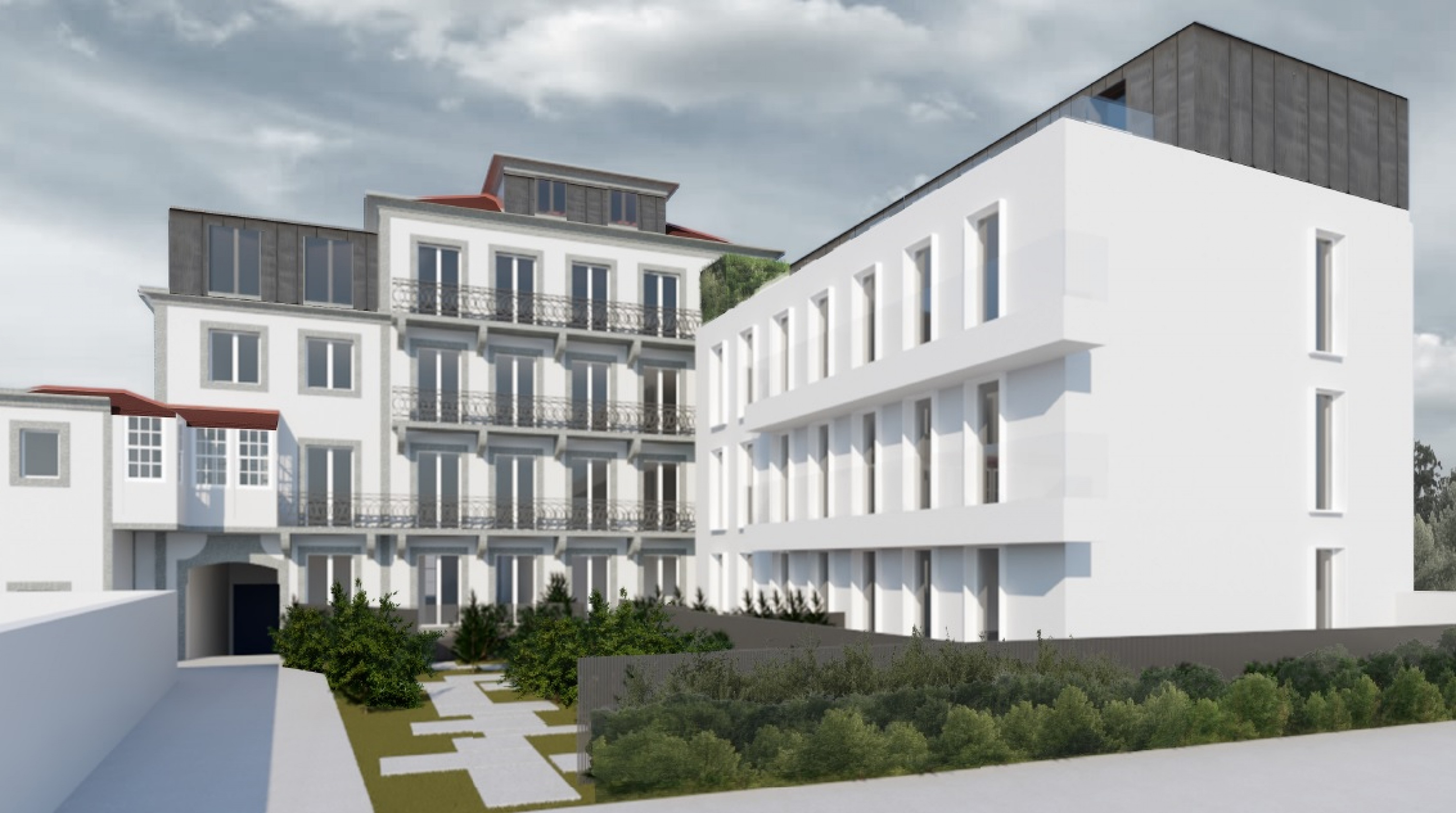 As traseiras do futuro imóvel, depois de reabilitado / Luximo's Christie´s International Real Estate