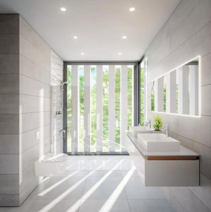Uma casa de banho minimalista