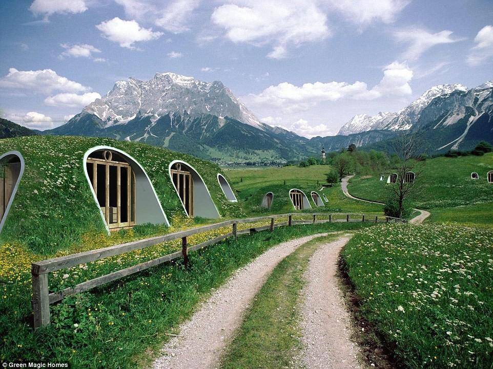 Casas pré-fabricadas subterrâneas