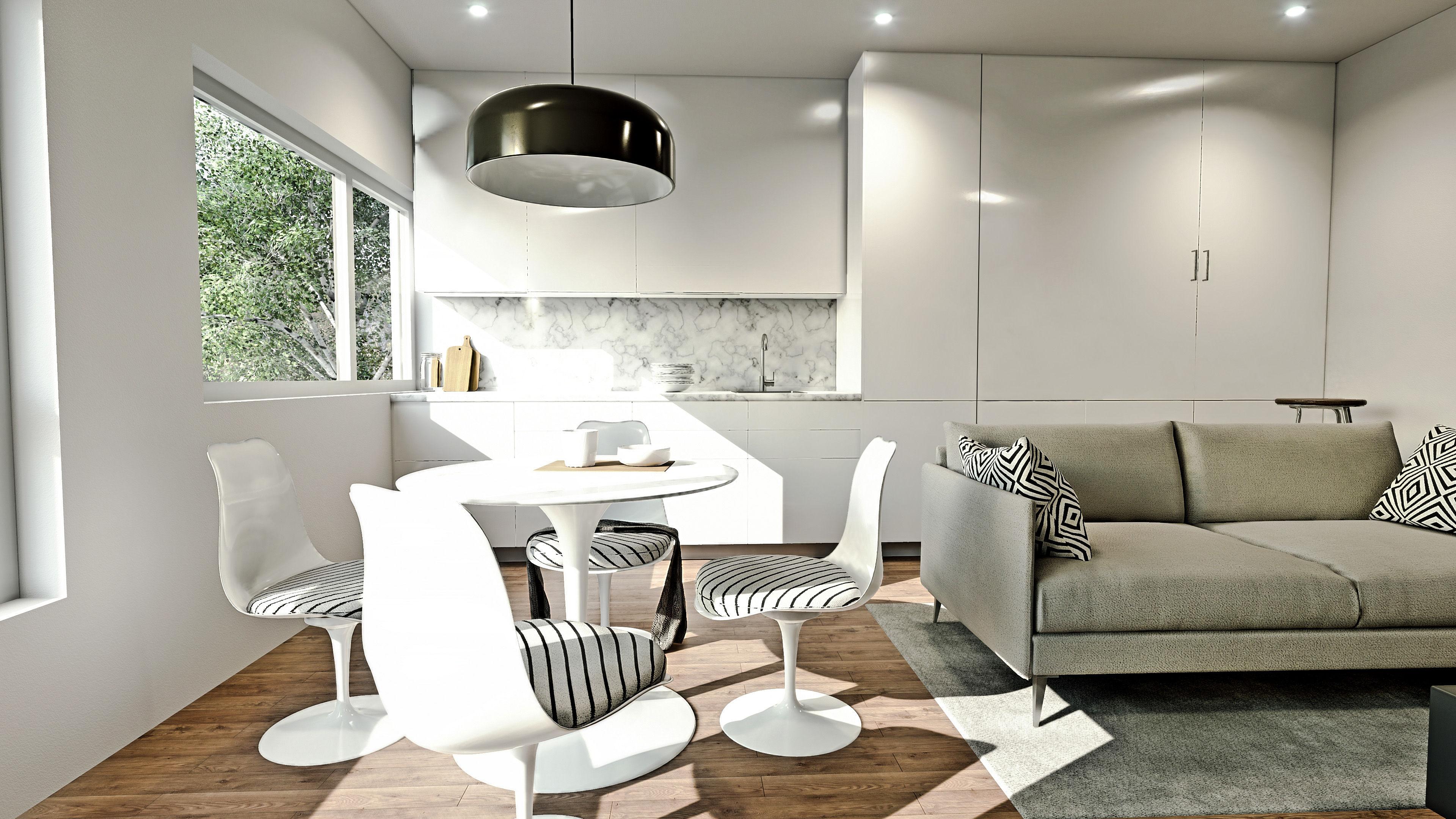 São ao todo 16 apartamentos com áreas entre 36 e 52 m2 / Grupo Omega