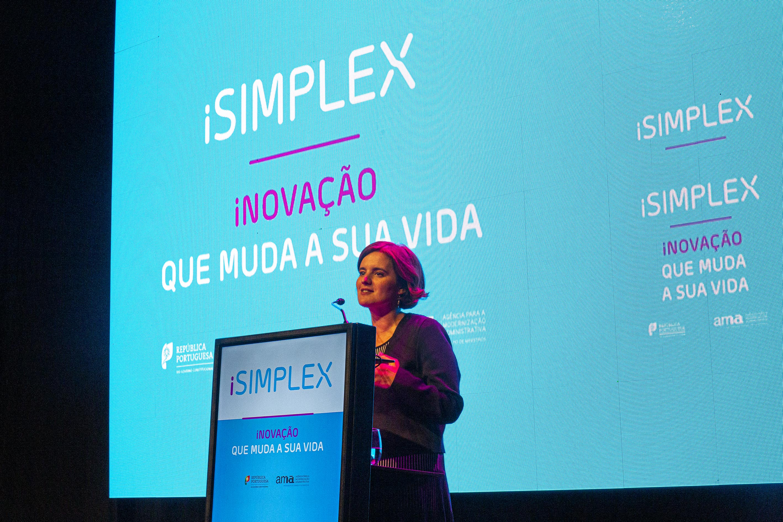 Ministra da Presidência e da Modernização Administrativa, Mariana Vieira da Silva, na apresentação do iSimplex 2019 / Foto: João Bica via República Portuguesa