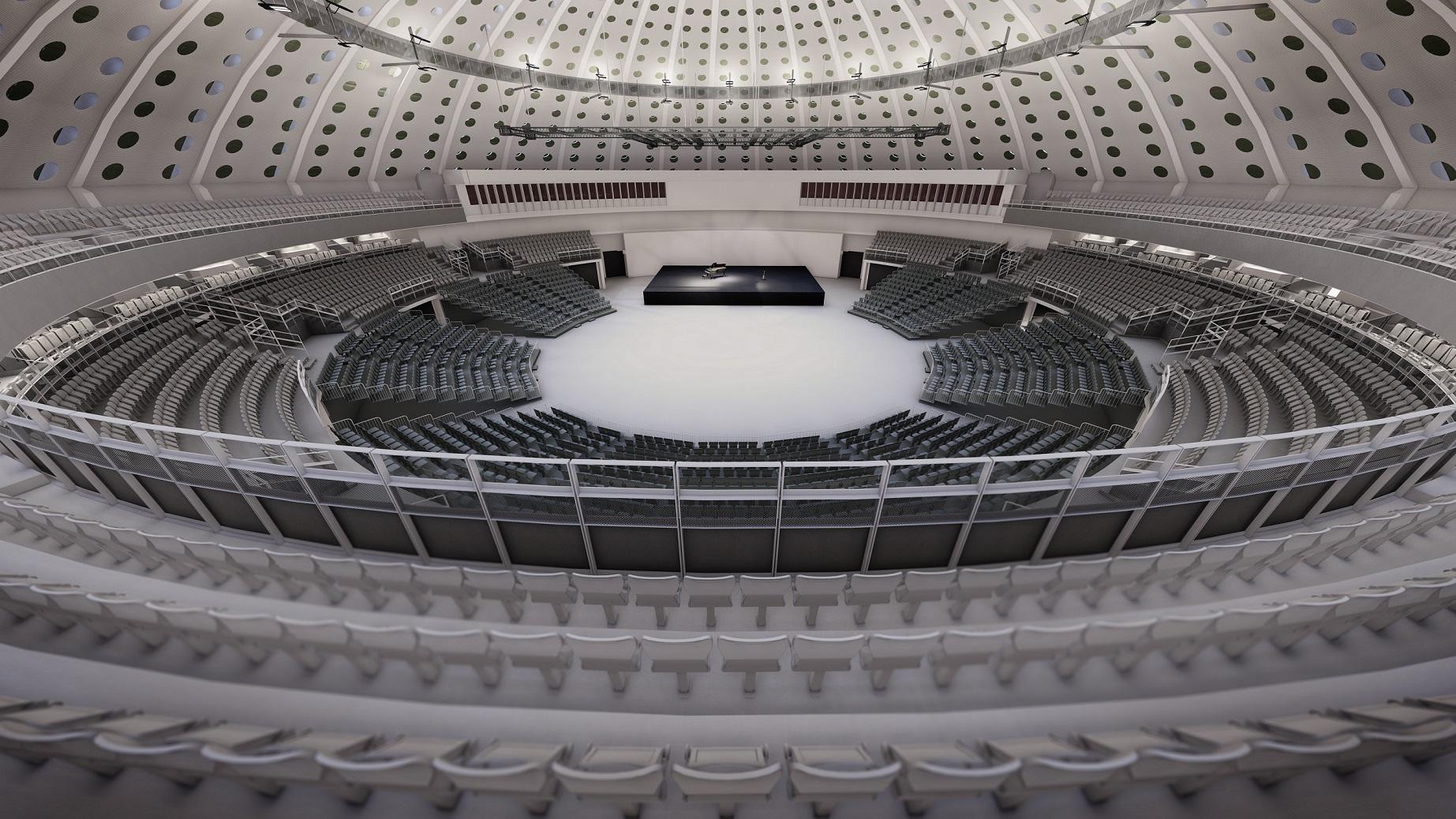 A sala principal do Pavilhão Rosa Mota tem capacidade para 5500 lugares sentados / Super Bock Arena - Pavilhão Rosa Mota