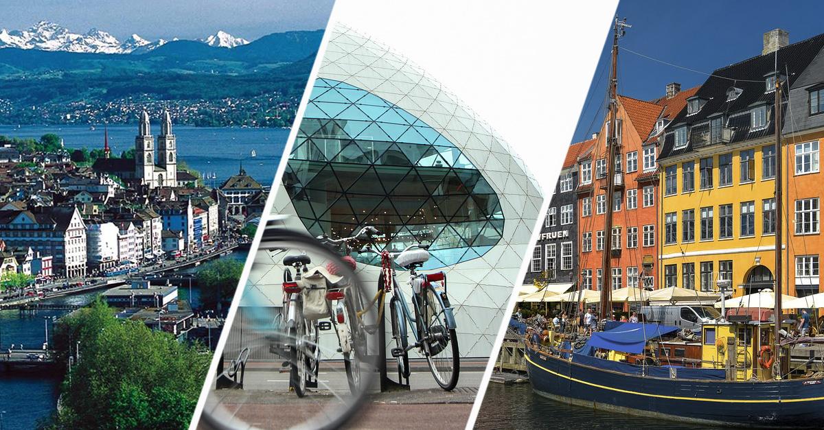 As melhores cidades para viver na Europa