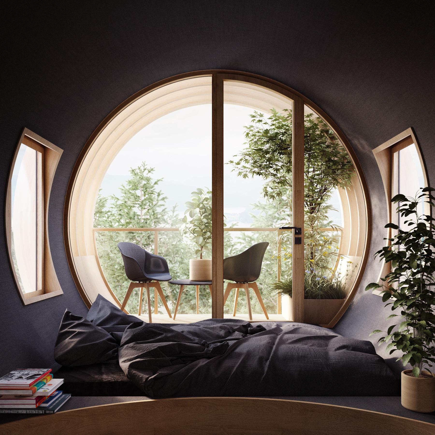 Grandes janelas para desfrutar das vistas