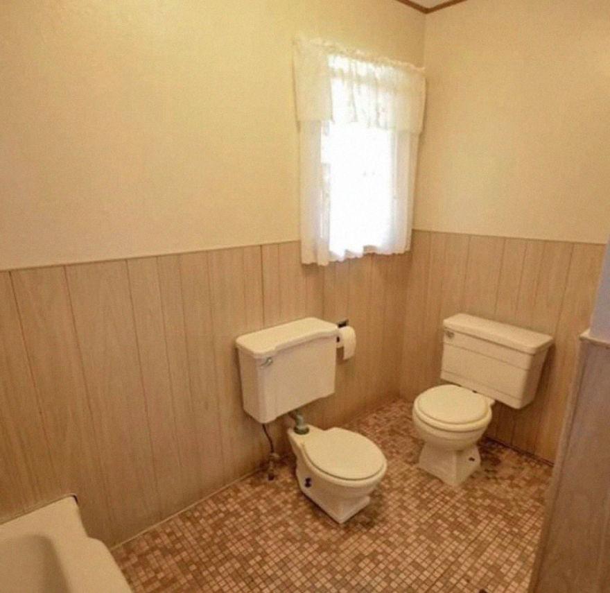 Uma casa de banho partilhada
