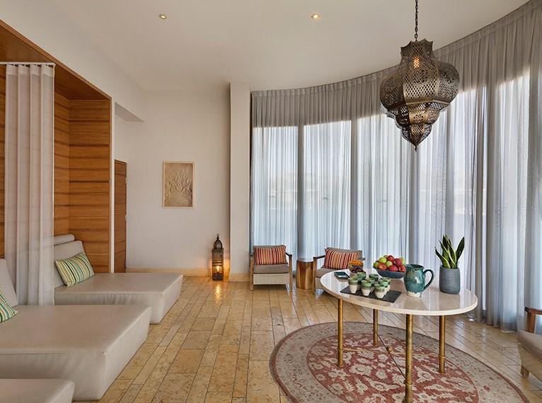 Decoração minimalista e de luxo