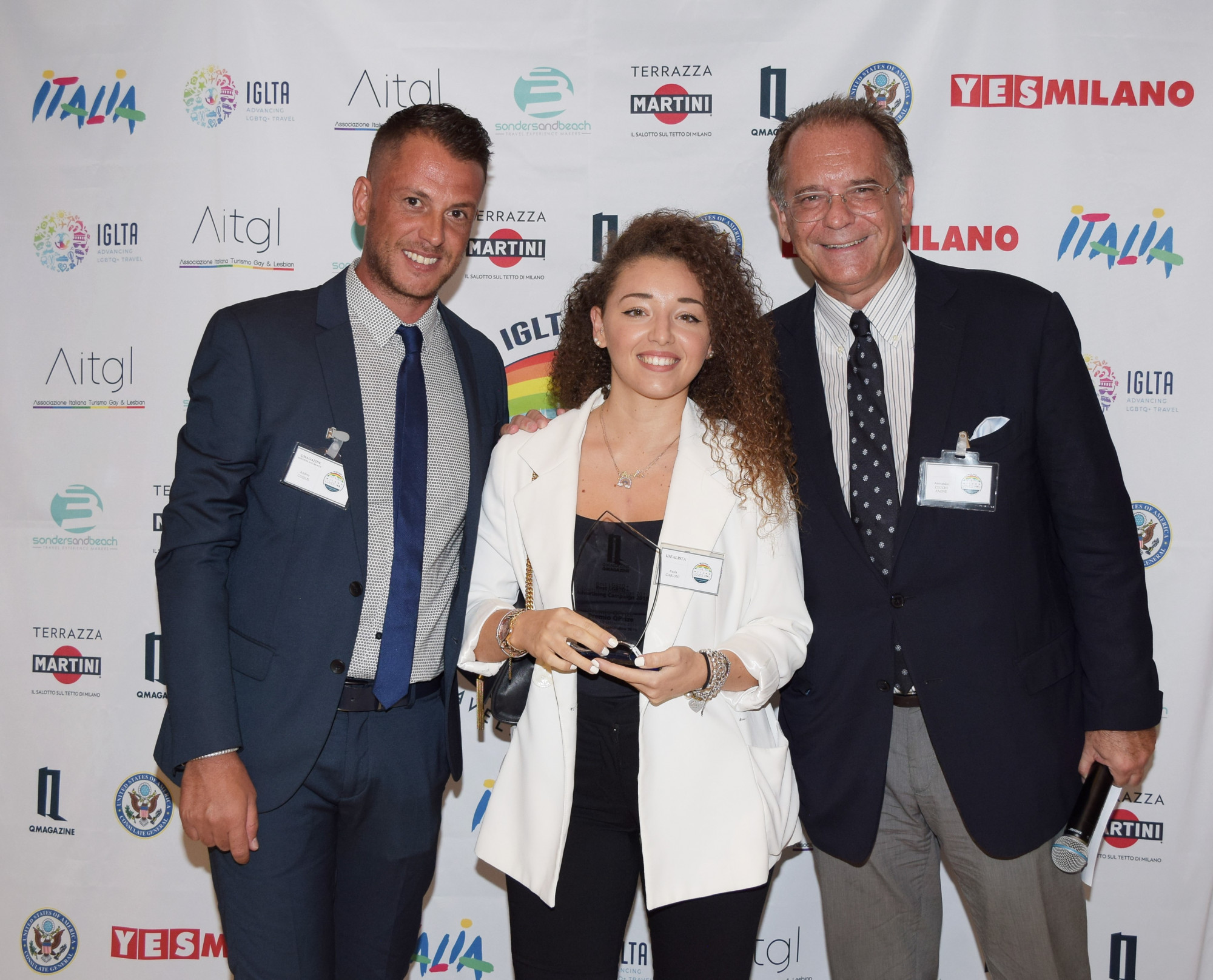 Da esquerda para a direita: Andrea Cosimi, Paola Carioni e Alessandro Cecchi Paone / Nick Zonna