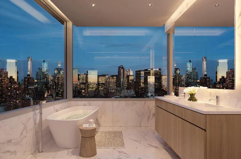 Uma casa de banho de luxo
