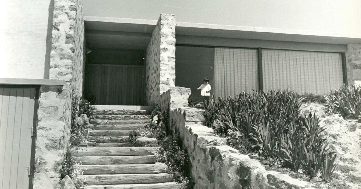 Entrada da casa / Fundación Miguel Fisac
