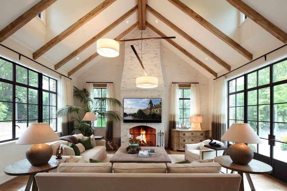 Uma sala de estar