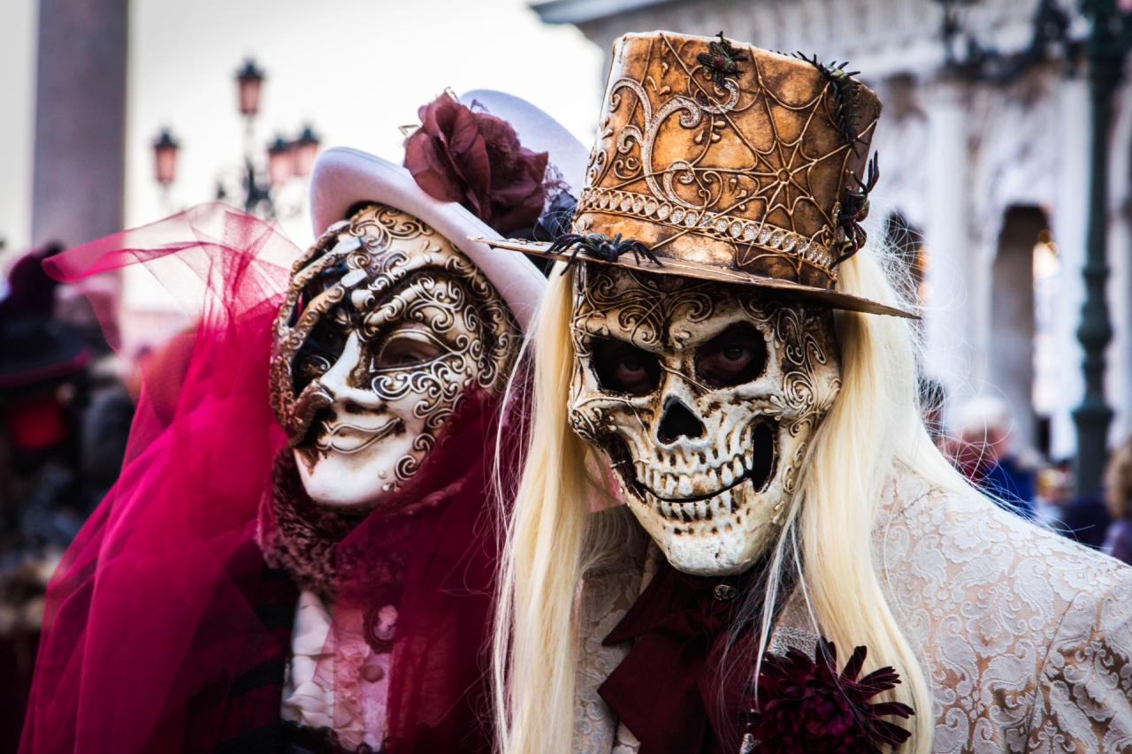 Máscaras de Halloween em Veneza