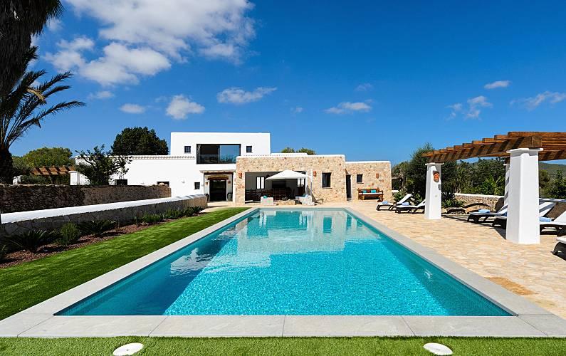 Uma casa típica de Ibiza