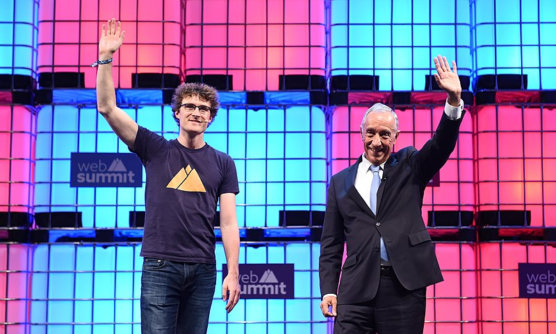 Paddy Cosgrave e Marcelo Rebelo de Sousa na edição de 2017 da Web Summit / Wikimedia commons
