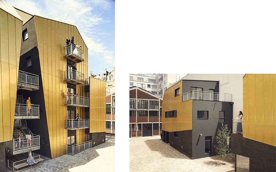 Inclui vivendas e estúdios de arte