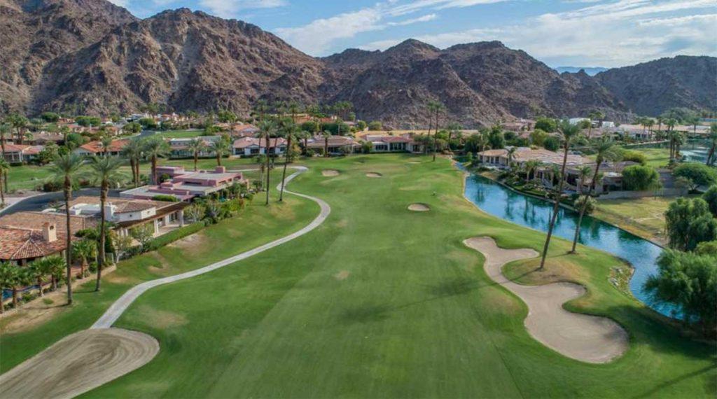 O campo de golfe