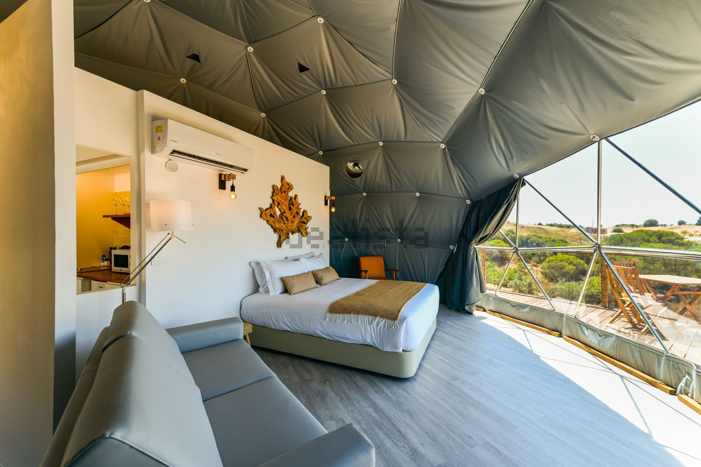 Interior da tenda de luxo
