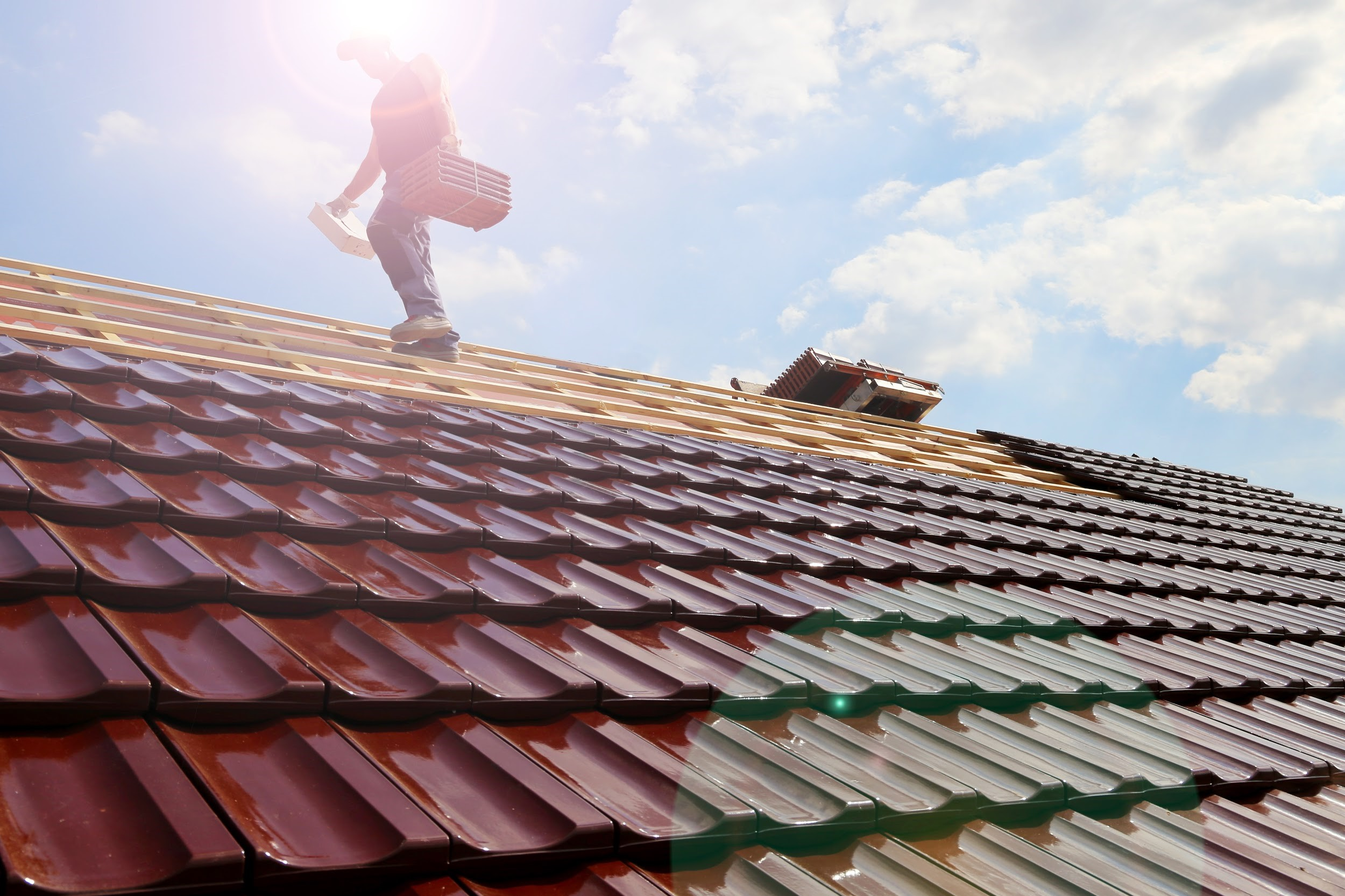 Faz uma revisão ao telhado