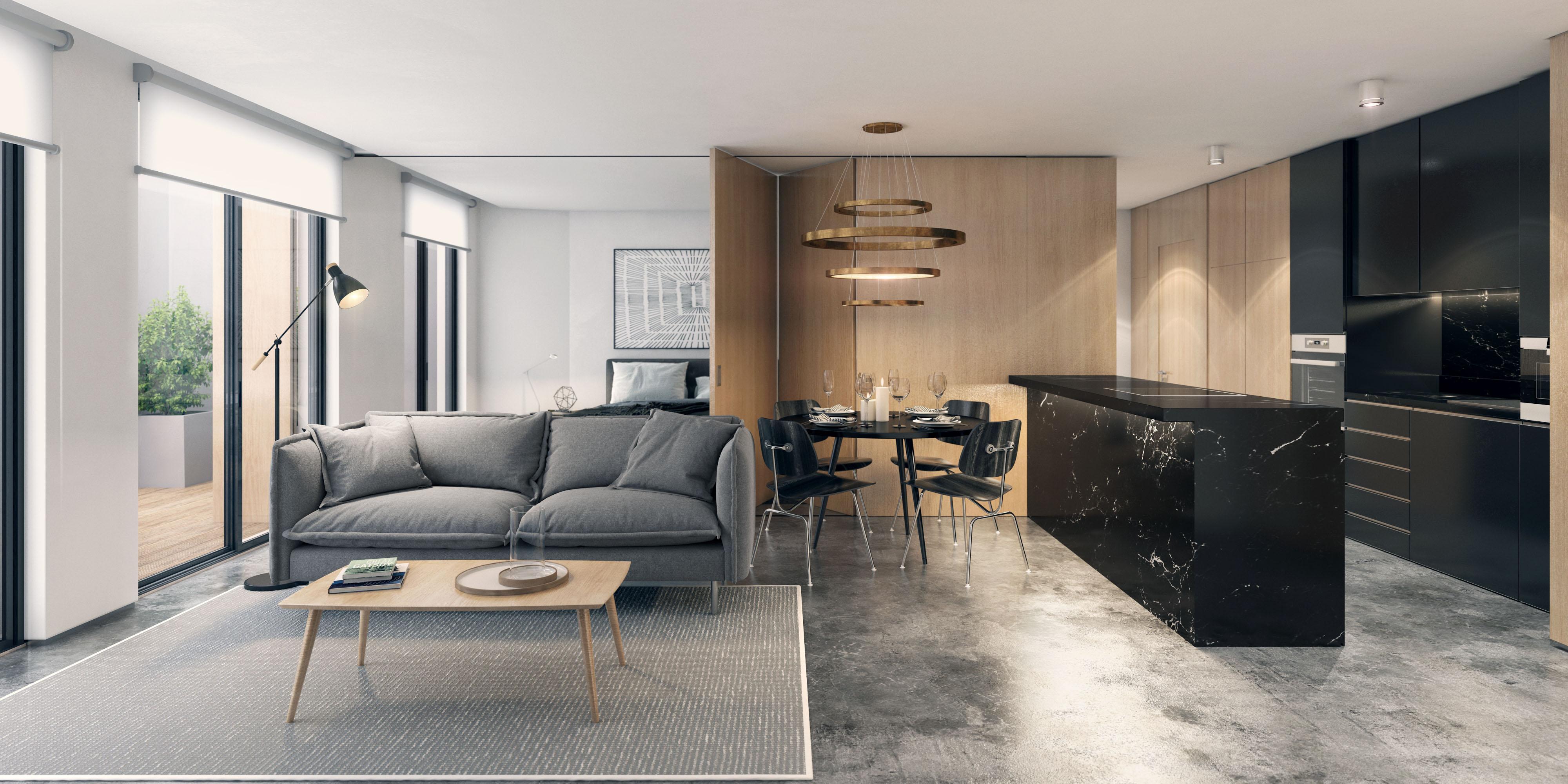 Cozinha e sala de estar / Porta da Frente|Christie's