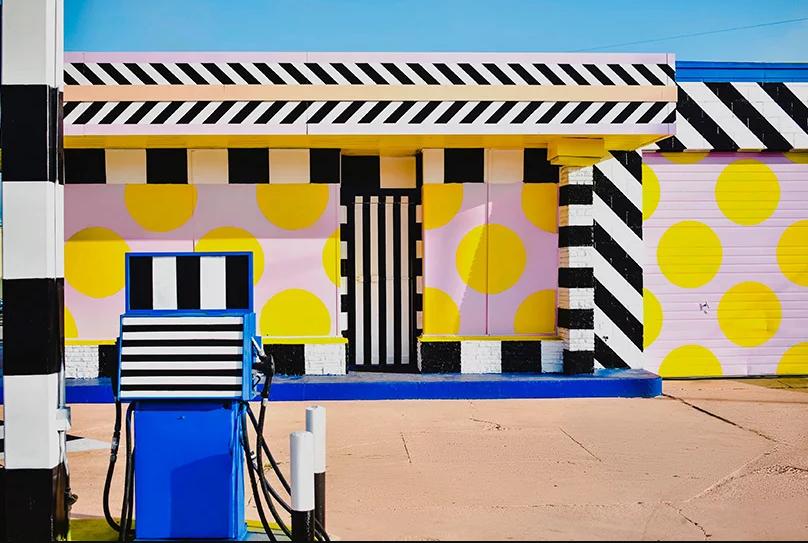 Um exemplo de arte urbana modernista
