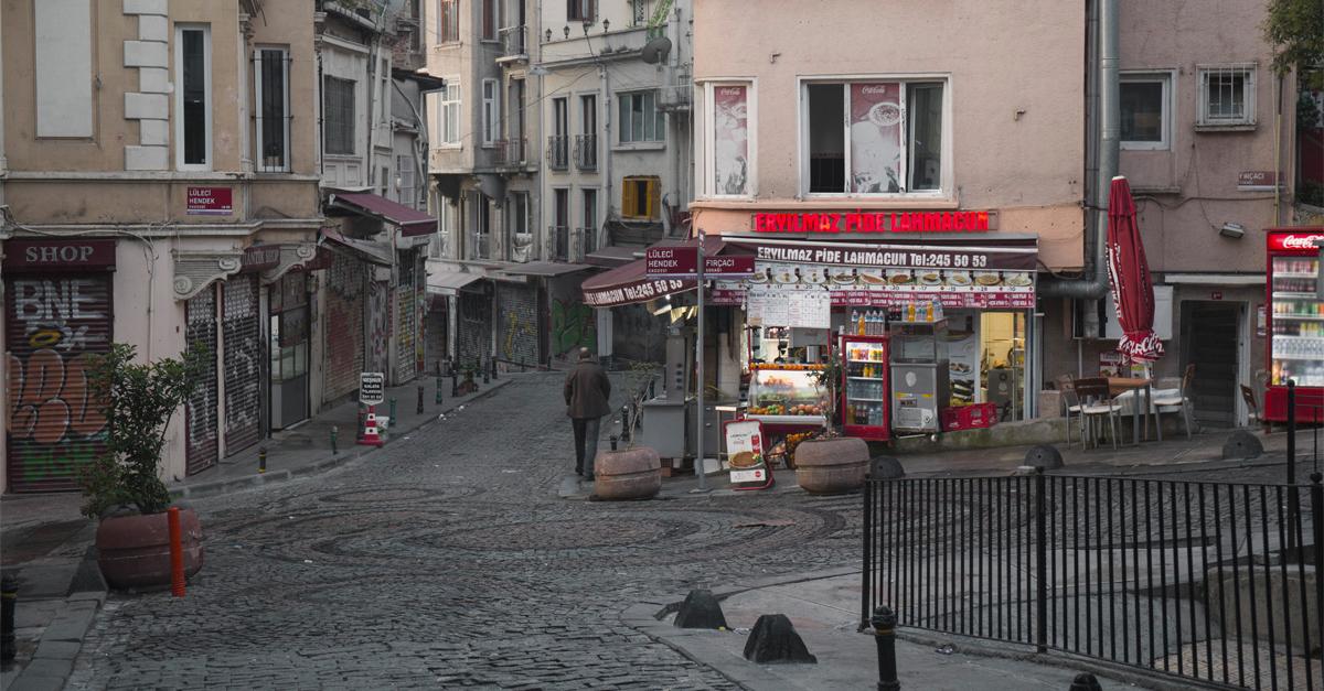 Ruas em Beyoglü