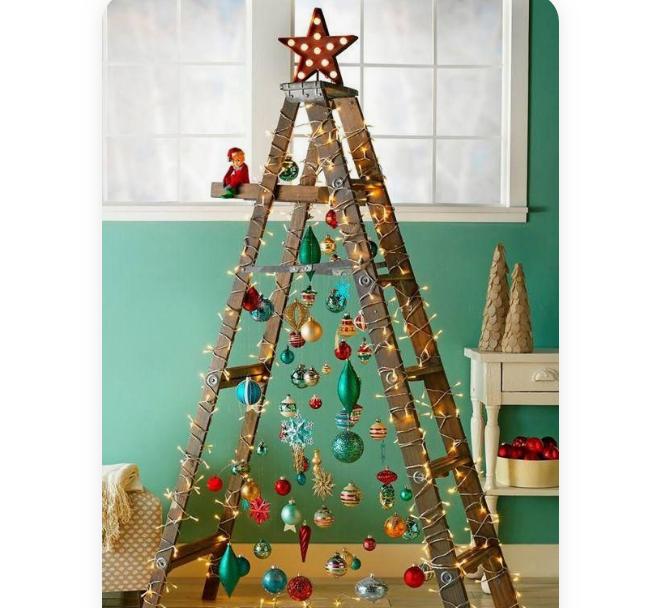 Uma árvore ou uma escadote de madeira?