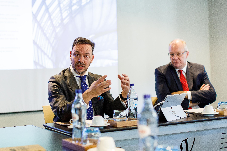 Miguel Kreiseler, managing director da MVGM Portugal, e Walter Sas, diretor da MVGM International / MVGM