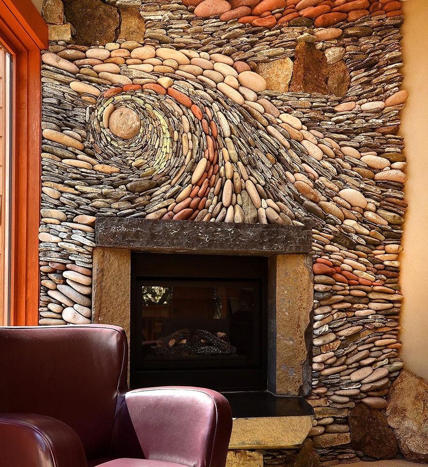 Pedras na parede