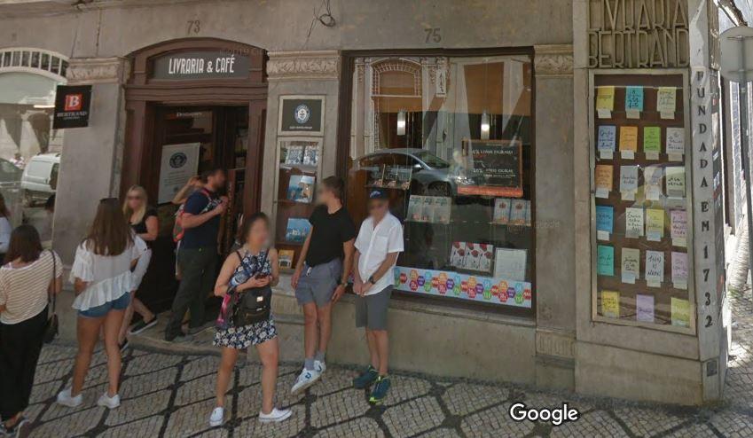 Grupo Porto Editora já detém no Chiado a Livraria Bertrand / Google Maps