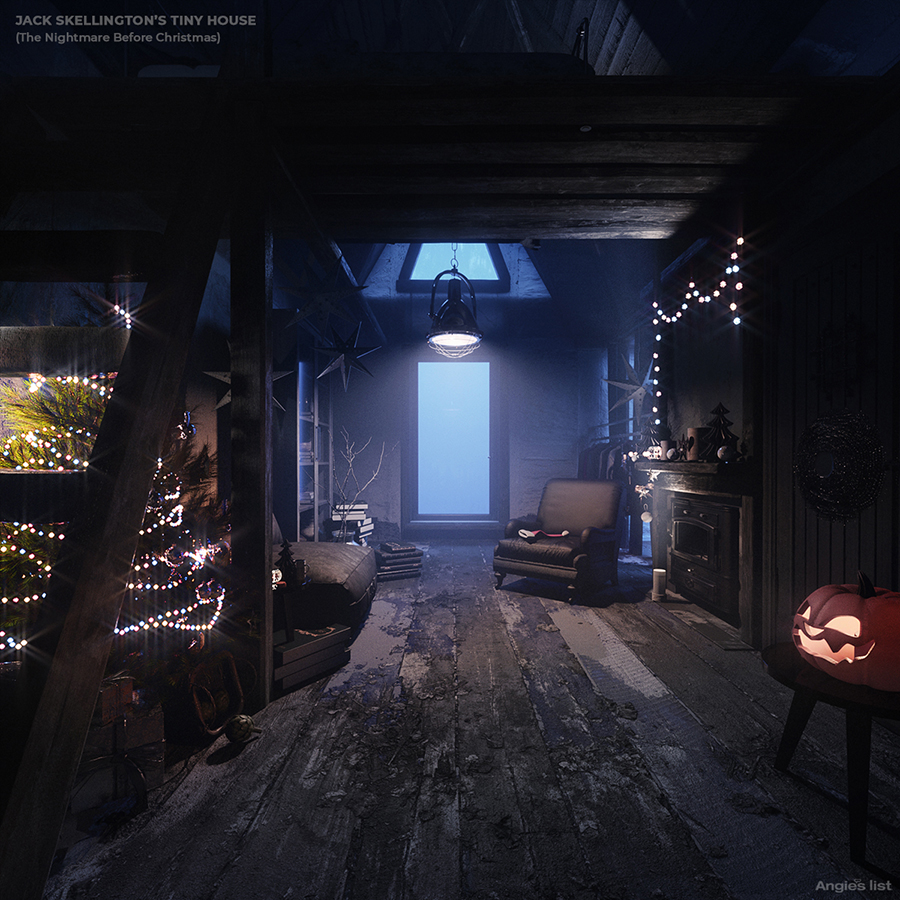 Minicasa do Jack Skellington (The Nightmare Before Christmas)