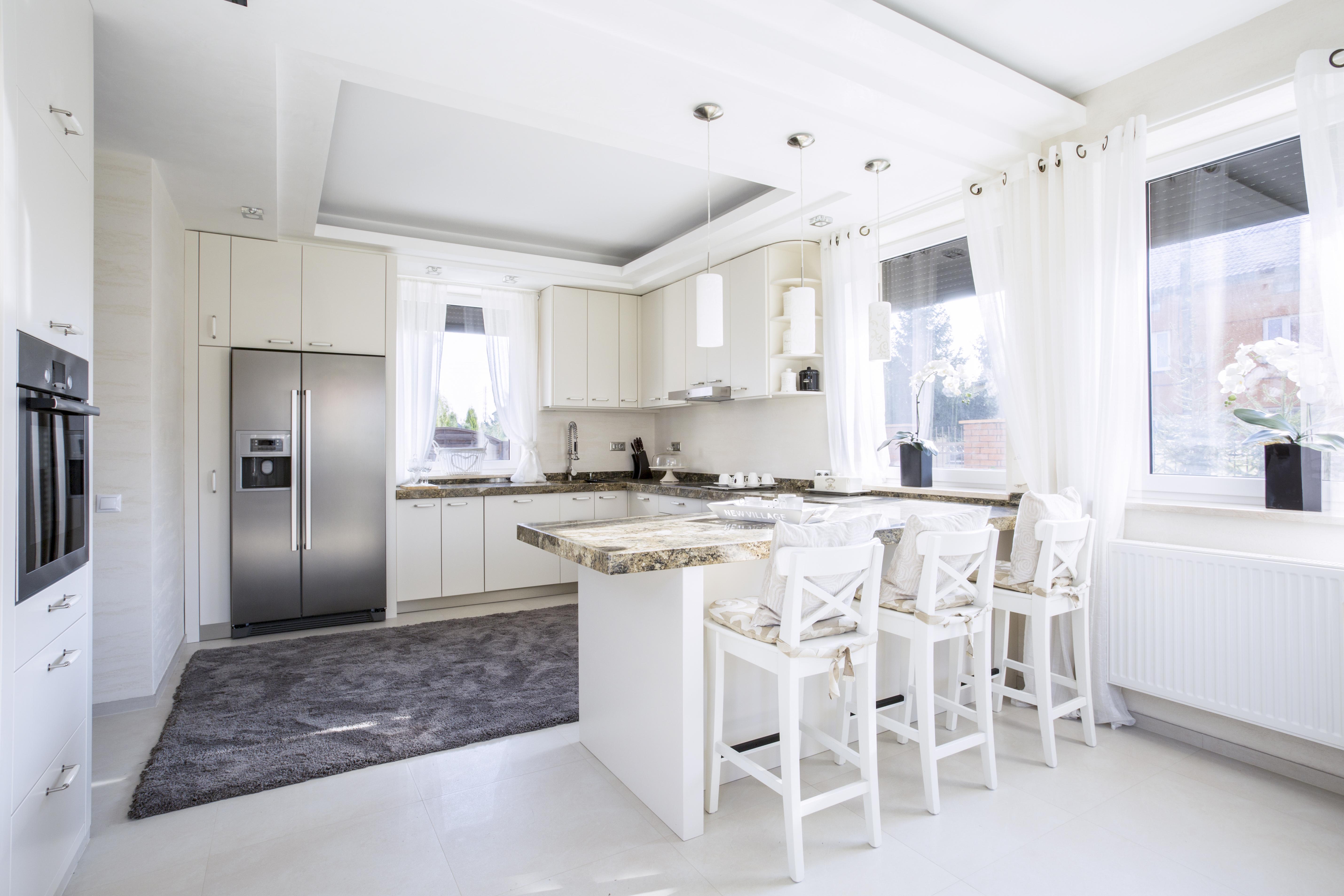 Bancada da cozinha com dupla função