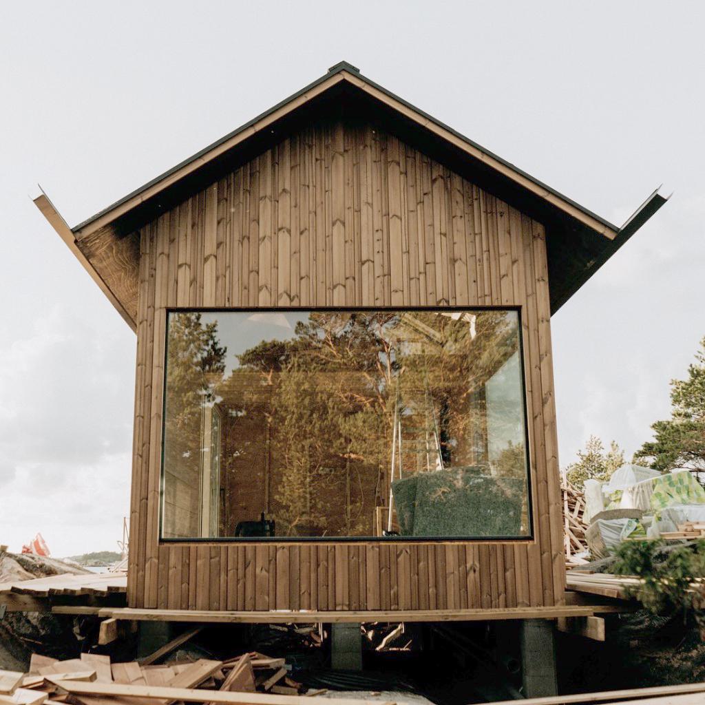 Vista de uma das cabanas em detalhe