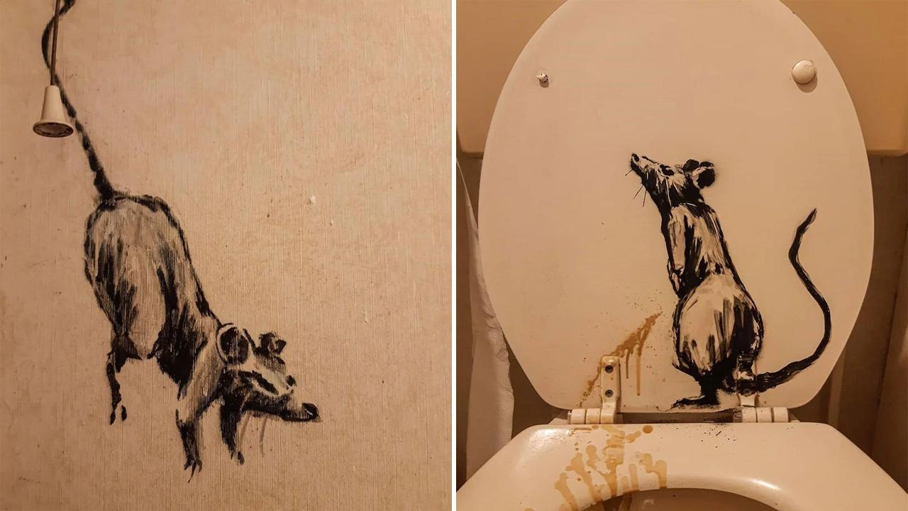 A causarem estragos na casa de banho do próprio artista