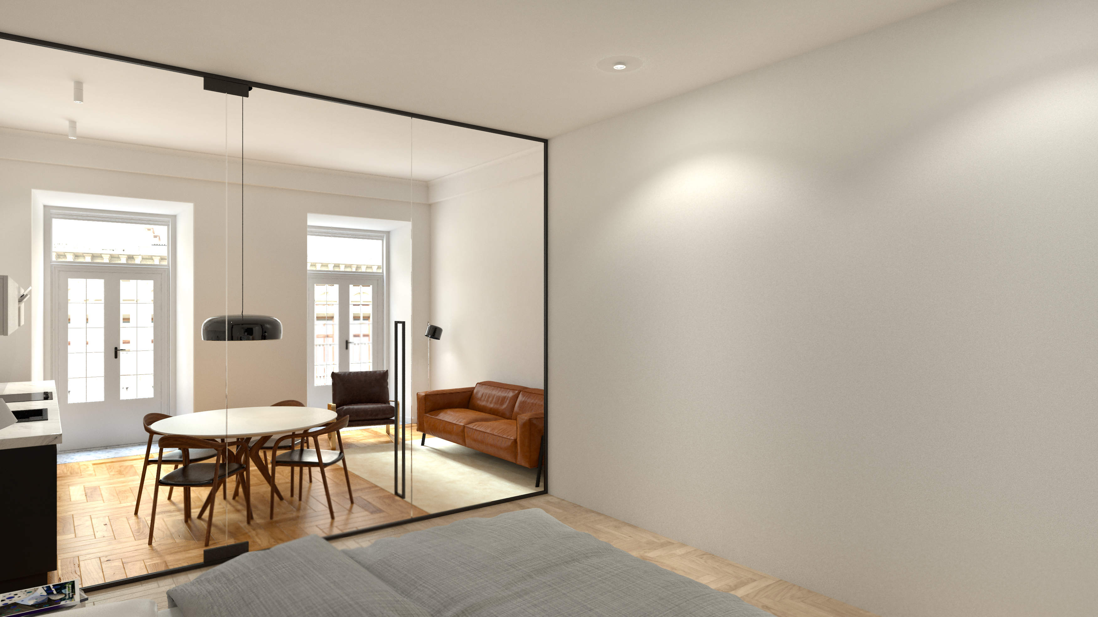 Interior de um projeto de Virtual Staging / Staging Factory