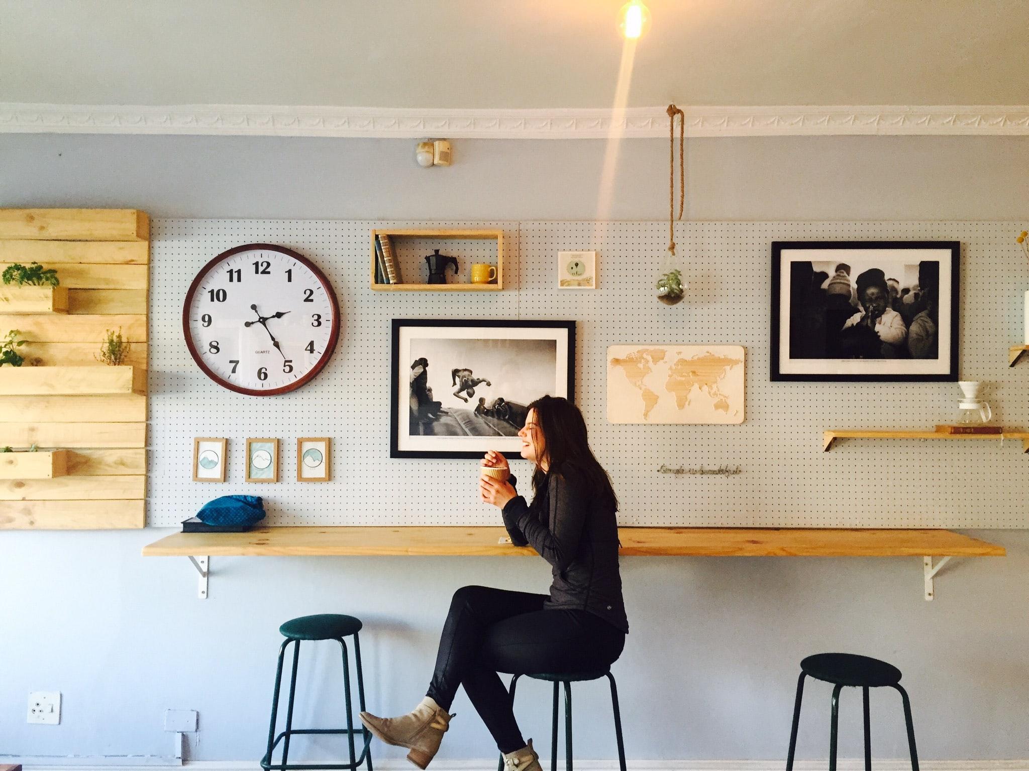 Criar um espaço para ir 'beber um café'