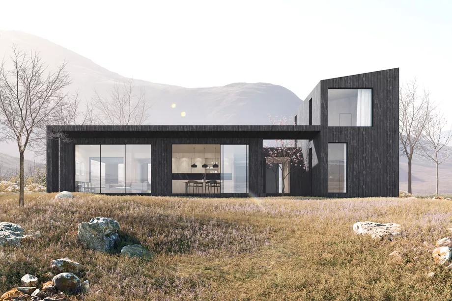 Uma casa pré-fabricada