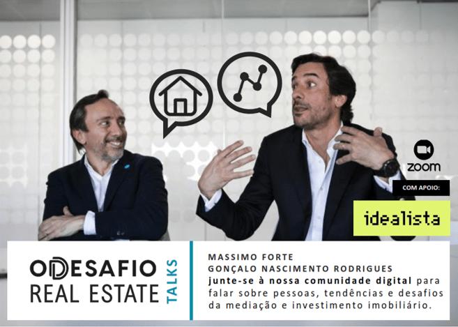 Massimo Forte (à esquerda) e Gonçalo Nascimento Rodrigues (à direita) / Desafio - Real Estate Talks