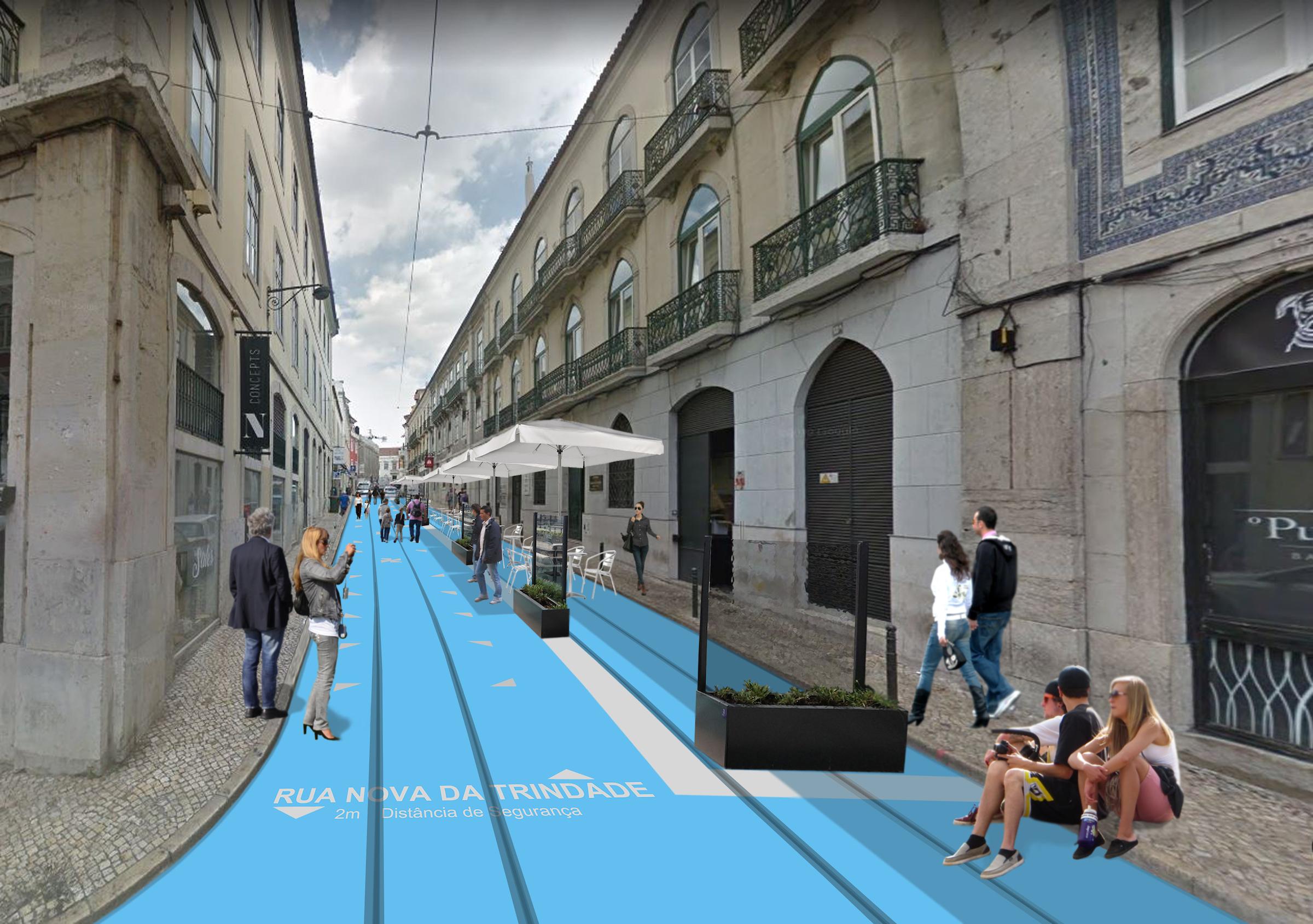 Rua da Nova Trindade, que agora será exclusivamente pedonal / CML