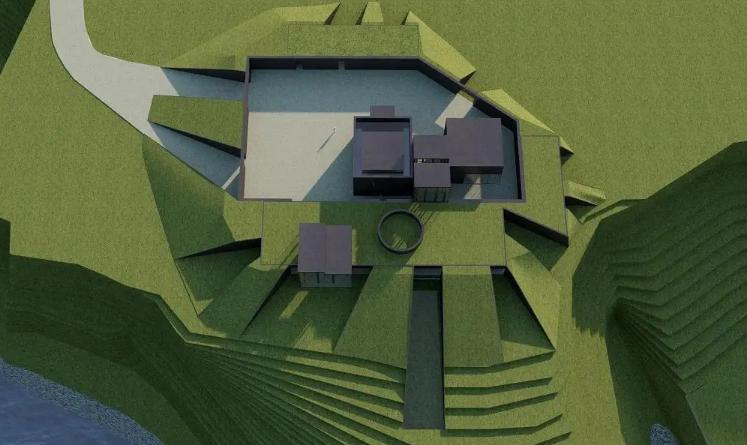 Inclui dois edifícios unidos