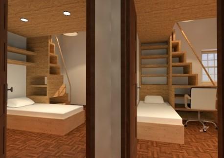 Espaços debaixo de escadas