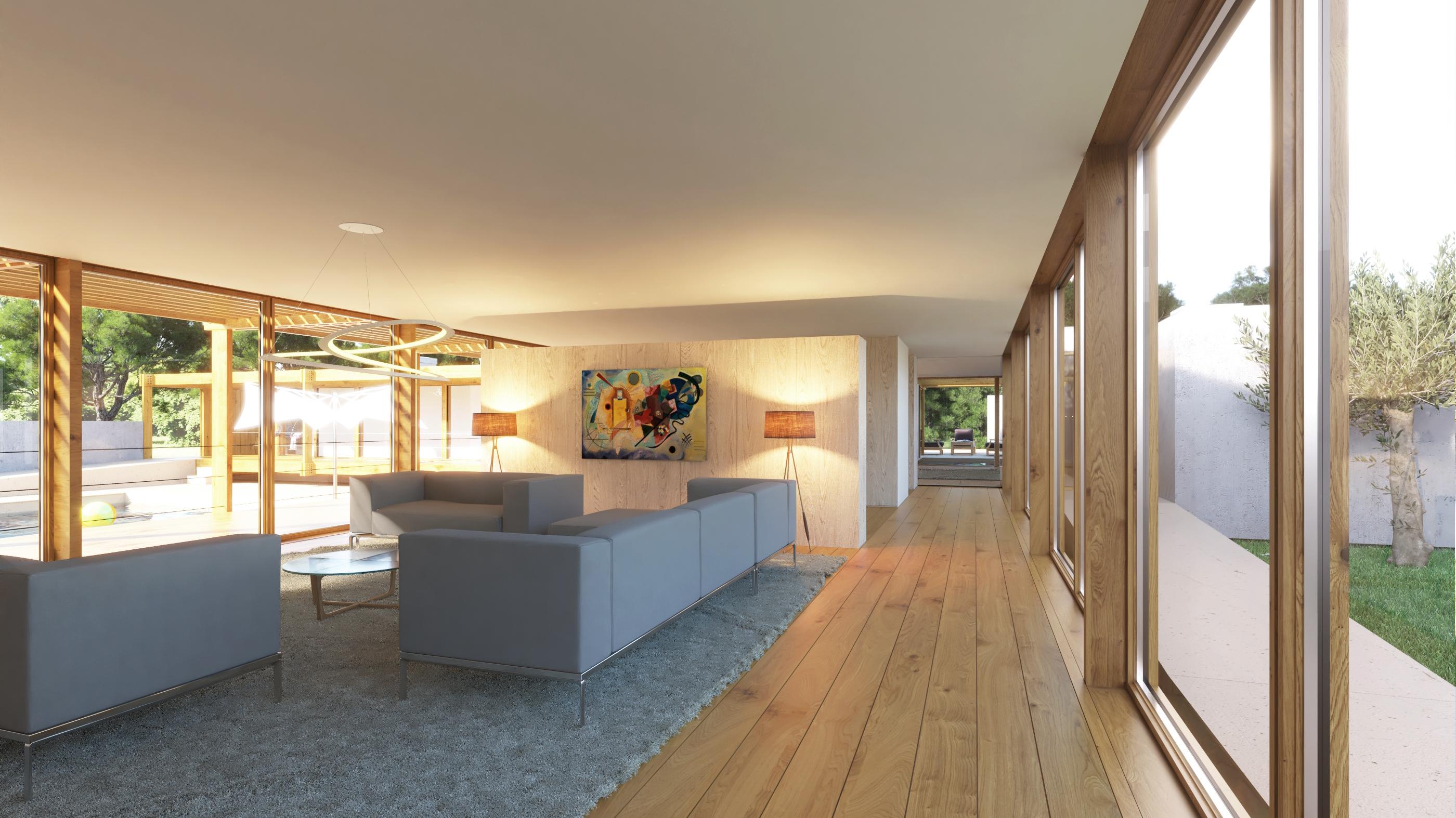 Interior de uma casa do condomínio Quintinhas / ADA - Atelier de Arquitectura